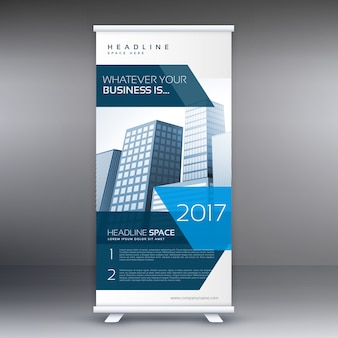 Commercial roll up banner template