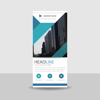 Commercial roll up banner