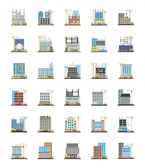 Commercial scaffolding orthogonal icons