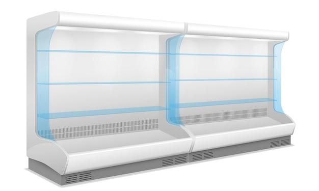 화이트 식품 냉각 및 보존을위한 상업용 상점 냉장고
