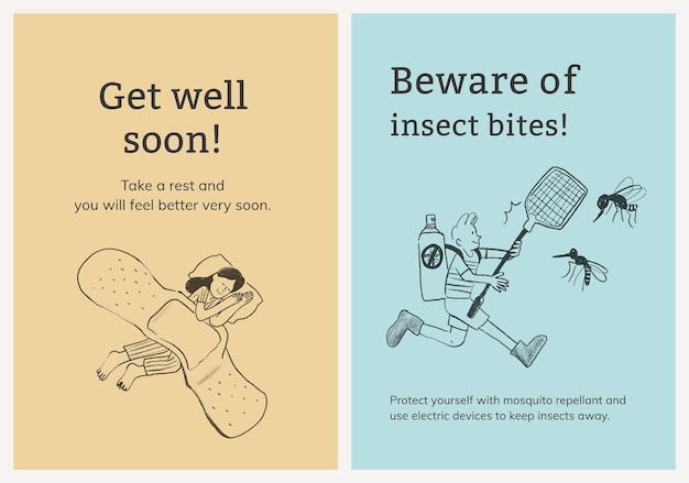 Common illnesses template set healthcare poster