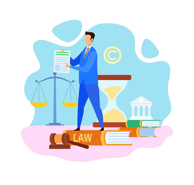 Common lawyer company flat vector illustration