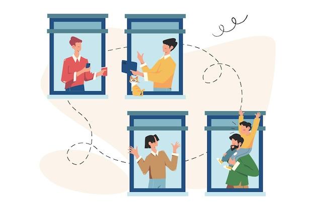 소셜 네트워크, 지원 및 사교성을 통해 의사 소통