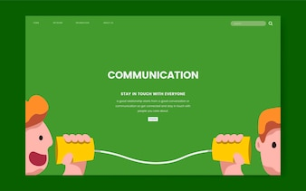 Communication and information website graphic