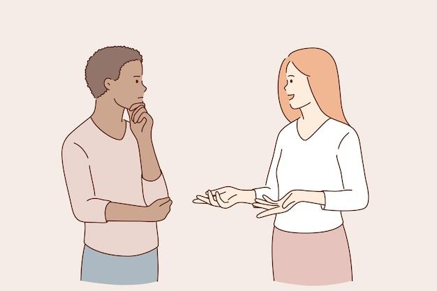 커뮤니케이션 및 말하는 개념