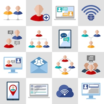Communication avatar and elements  set