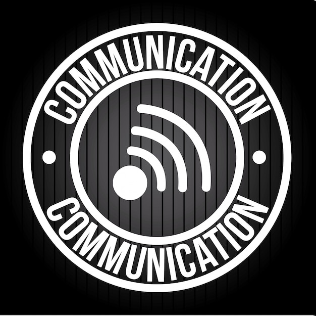 Communication over black illustration