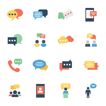 Communication, chat and messaging flat