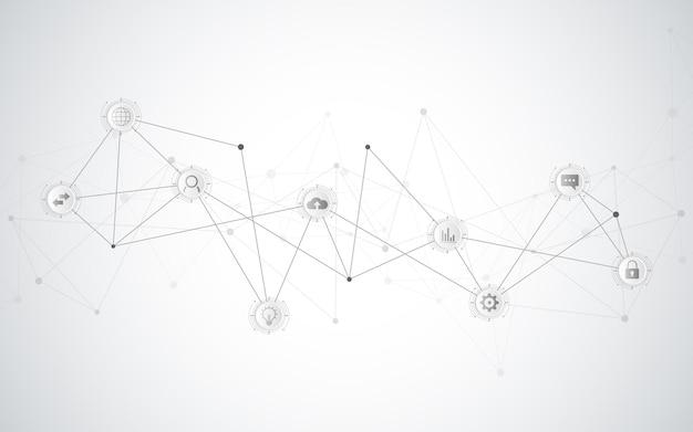 フラットアイコンとのコミュニケーションの概念