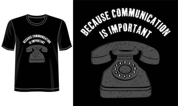 Communication  design for print t shirt and more
