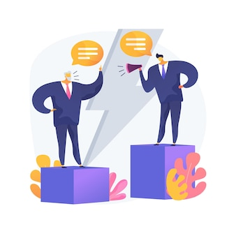 Communication gap abstract concept vector illustration. information exchange, understanding, effective communication, body language, feelings and expectations, relationship abstract metaphor.