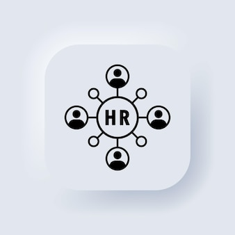 Communication icon. people network icon. business communication, corporation icon. connection for business. teamwork icon. business partnership. neumorphic ui ux user interface web button. vector.