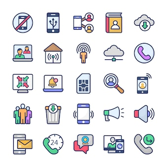 Communication icons collection