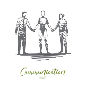 手描きのコミュニケーションイラスト