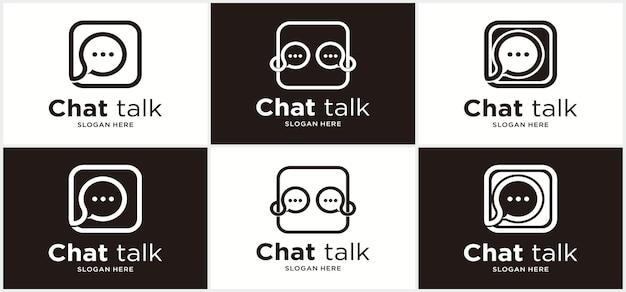 Communication logo chat communication vector illustration chat app logo design
