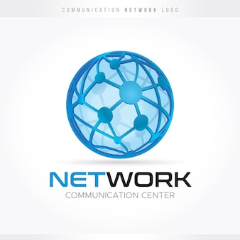 Communication and network logo