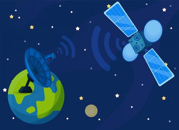Communication satellite or comsat.