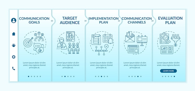 Communication strategy components onboarding template