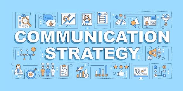 Коммуникационная стратегия слово концепции баннер