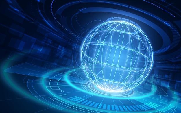 ビジネスのための世界的な通信技術とインターネット。