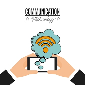 Communication technology design, vector illustration eps10 graphic