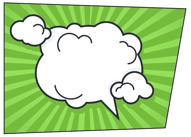 Communication or thought bubble in comic book style. comment of personage or idea of character. talking and thinking, dialog or chatting box. pop art note, expression vector in flat illustration