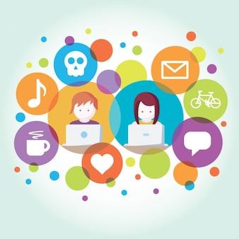 Communication through internet design