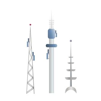 Коммуникационные башни изолированных иллюстрация