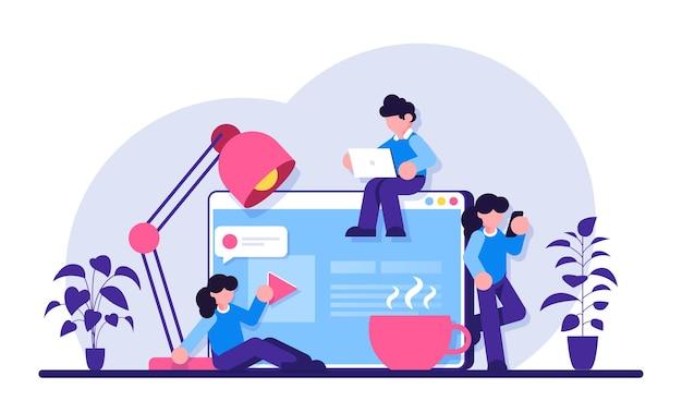 Связь через интернет. социальная сеть