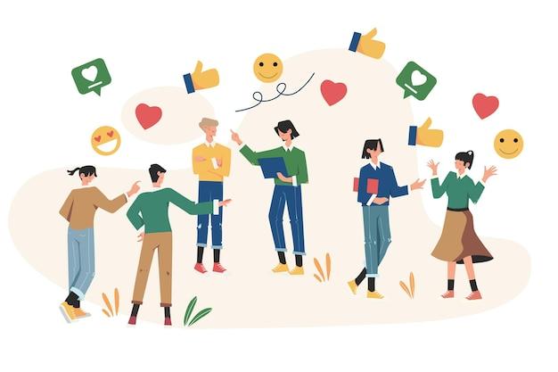 인터넷, 소셜 네트워킹, 채팅, 비디오, 뉴스를 통한 커뮤니케이션