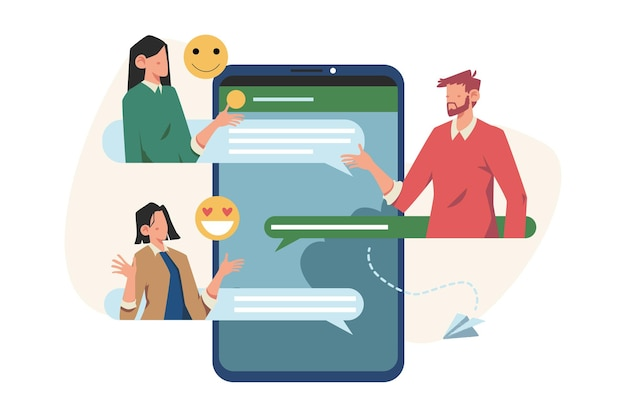 인터넷 소셜 네트워킹 그룹 채팅을 통한 커뮤니케이션