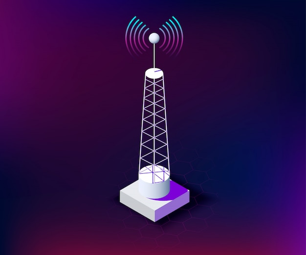 Communication wireless tower network