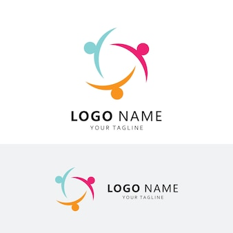 Community and adoption care logo vector icon template