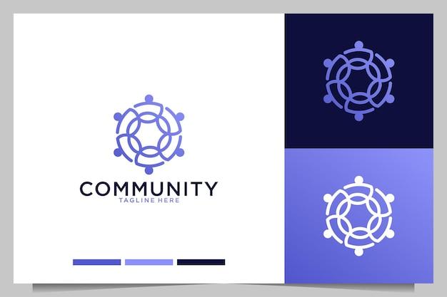 コミュニティ会社のモダンなロゴデザイン