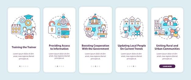 Шаги по разработке сообщества: добавление концепций на экран страницы мобильного приложения.