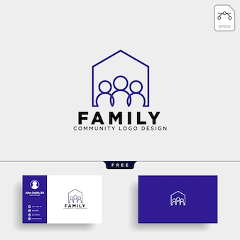 Community human logo template vector icon isolated