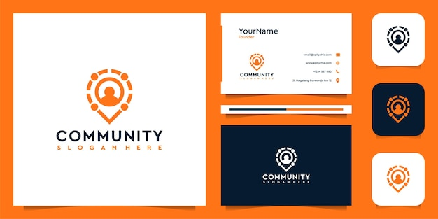 Community logo and business card set