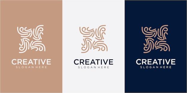 Community logo design template. community line logo design inspiration