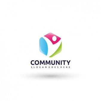 Сообщество шаблон логотипа