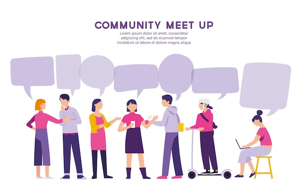 Сообщество встретиться для обмена проблемой