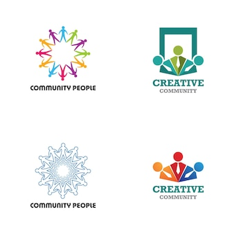 Community, network and social icon design template
