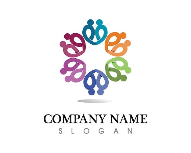 커뮤니티 사람들 관리 로고 및 기호 템플릿