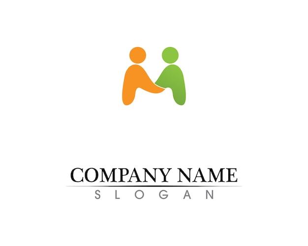 Сообщество людей заботится логотип и символы шаблона