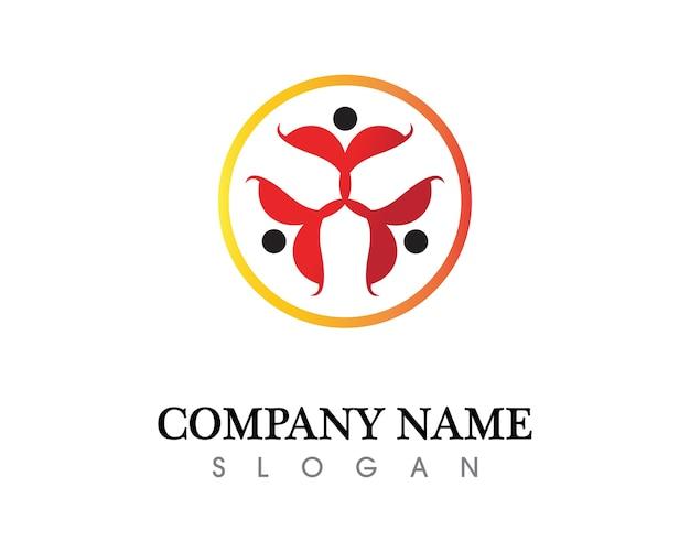 Шаблон логотипа и символов для сообщества