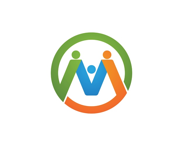 Community people care logos symbols template