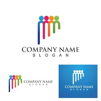 Сообщество людей логотип сети и социальный значок