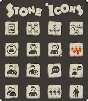 Community vector icons for web and user interface design
