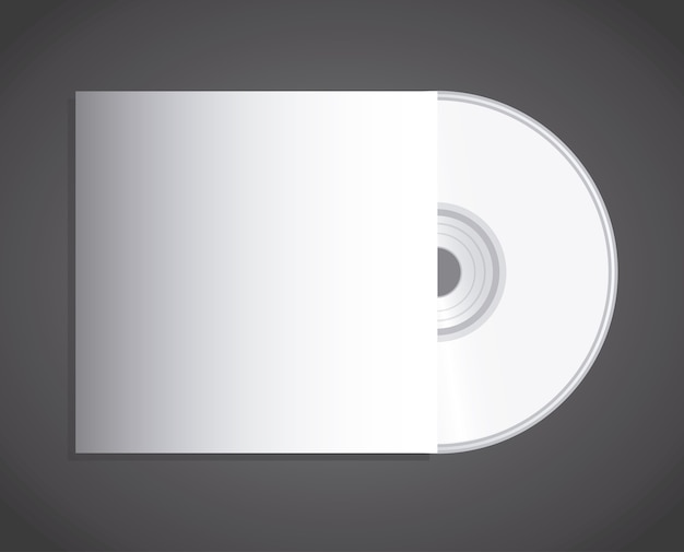 Compact disc design over black background