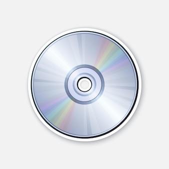 虹の反射が付いているコンパクトディスク光学レーザーディスクcdまたはdvdベクトル図