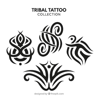 Compact tribal tattoo collection